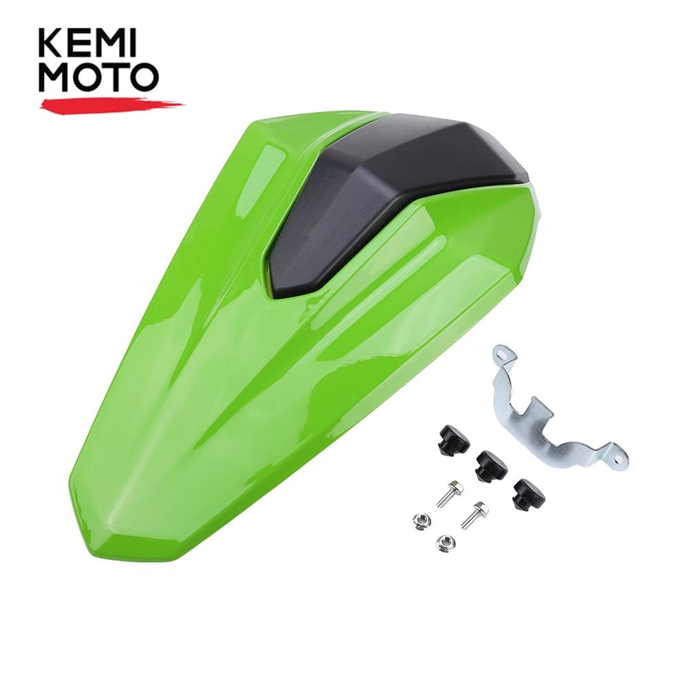 KEMIMOTO seat cowl For Kawasaki Ninja 400 2017 2018 2019 Ninja400 ABS material pillion Rear Seat Cover Cowl Solo Seat Cowl Rear