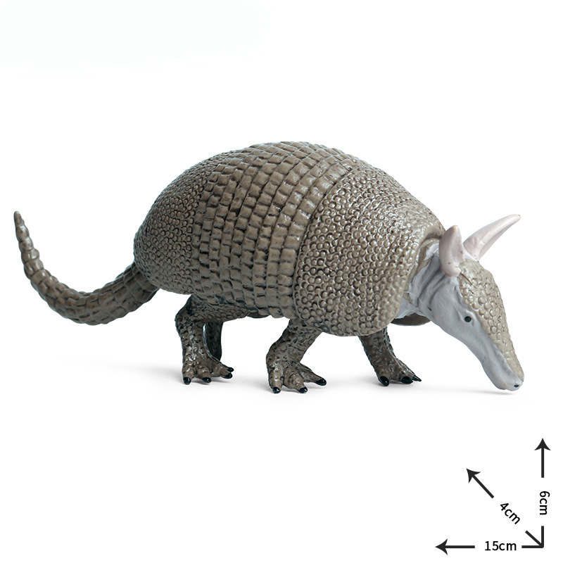 Solid Armadillo Model Action Figure Wild Animal Action Figures Collection PVC Children Cognitive Toys
