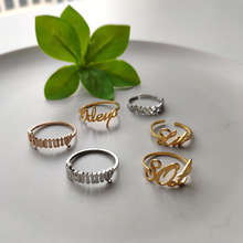 Benutzerdefinierte Alte Englisch Name Ring Personalisierte Ring Roes Gold Edelstahl Ringe Für Frauen Beste Freunde Hochzeit Handgemachte Jewerly