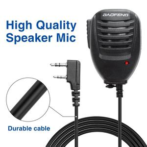 Image 4 - 5pcs Original Baofeng UV5R Handheld Microphone Speaker MIC for Baofeng Portable Radio UV 5R BF 888S BF UVB3 Plus Walkie Talkie