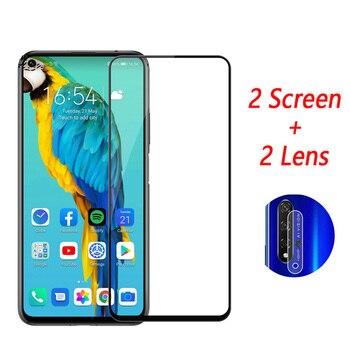 Перейти на Алиэкспресс и купить Полное покрытие, закаленное стекло для Huawei Nova 5 T, Защита экрана для Huawei Nova 5 T Nova5 T, стекло для камеры Huawei Nova 5 T, стекло