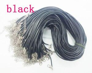 Image 5 - Livraison gratuite!!! 1000 pièces bricolage fait main noir tressé cire collier cordon, 1.5mm 45cm longueur collier cordon