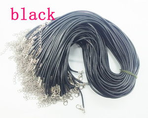 Image 5 - Wholesale Hot Sale  1000pcs DIY handmade black braided wax necklace cord ,1.5mm X 45cm lenght necklace cord