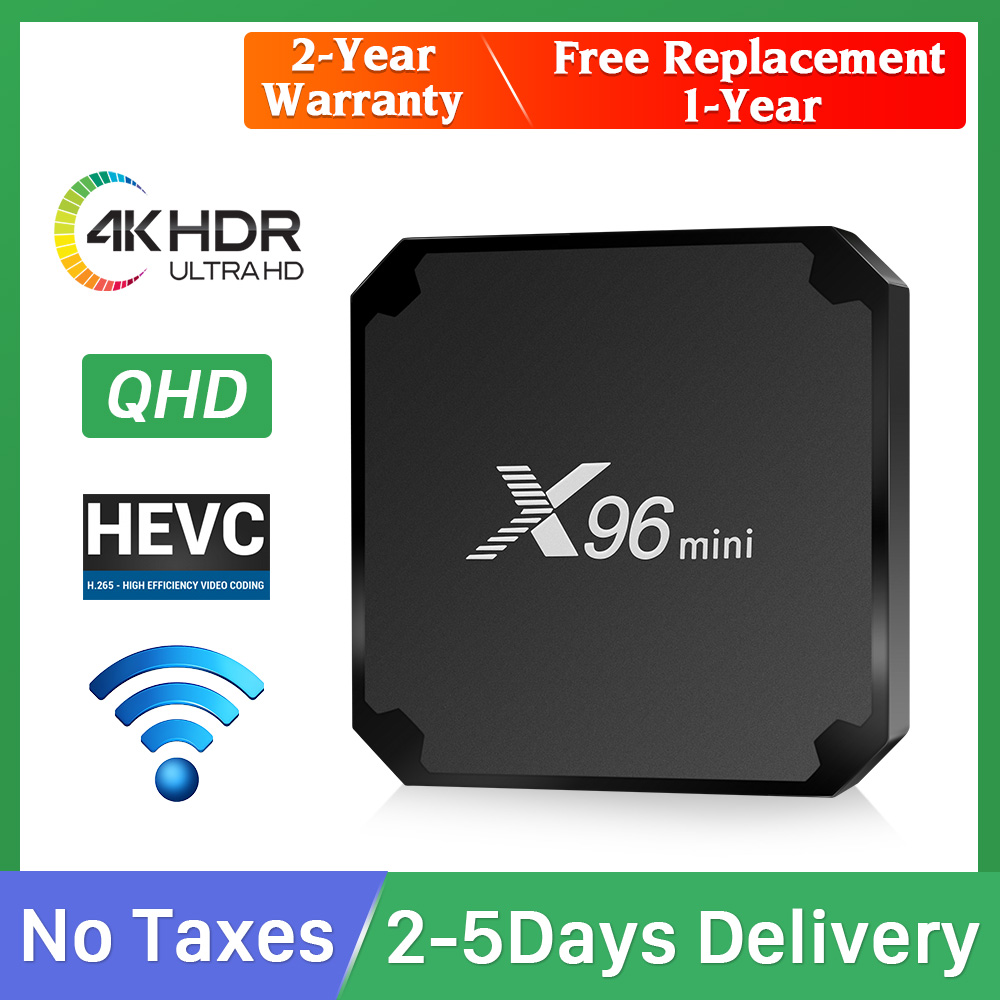 QHD X96 MINI box  4K HDR Android TV box 9 0 S905W Quad-core 64-bit 1 Year warranty smart tv box TV receivers no app X96mini