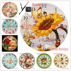 2020new flower diy Алмазная картина полная дрель и часы цветок 5d Алмазная мозаика продажа часы цветок Рождество Домашний настенный стикер