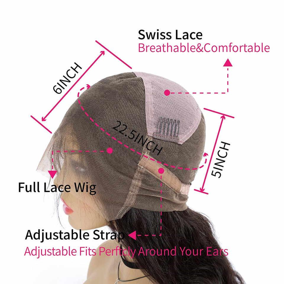 Pelucas de cabello humano de encaje completo con cabello de bebé mojado y ondulado Pre desplumado pelucas de encaje completo sin pegamento para mujeres onda del cuerpo cabello Remy peruano