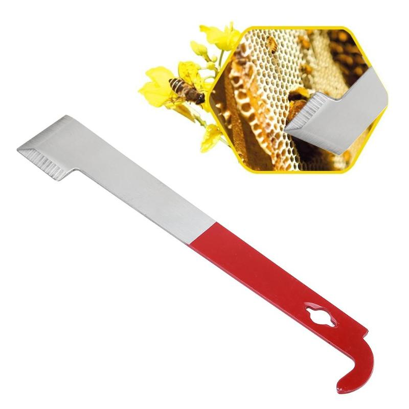 Bee Honey Knife J Type Hive Tool Beekeeper Scraper Red Tail Beekeeping Tools Scraper Honey Knife Beekeeping Equipment