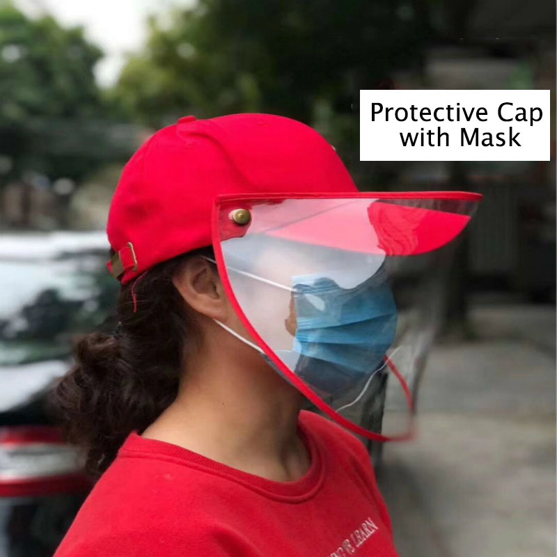 Bacteria Proof Cap Protection Cap Dust-proof Droplet Waterproof Effectively Isolate Bacteria Virus Mask Deconstructable Washable