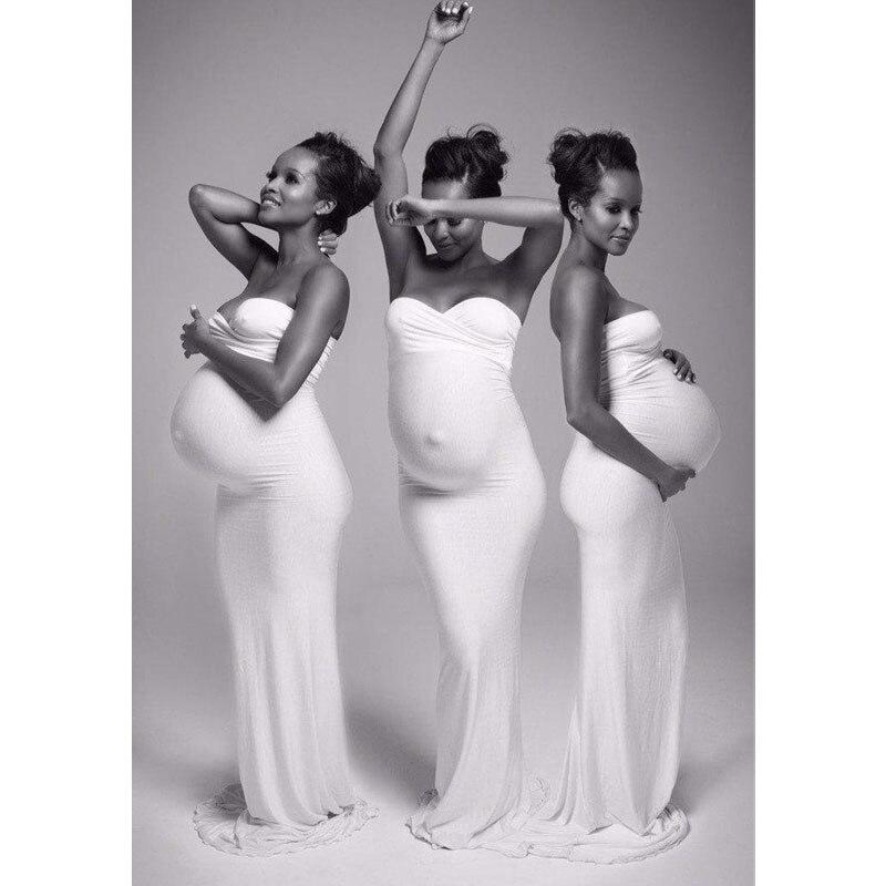 Slim Pregnancy Dress Photography Maternity Photography Props Maternity Dresses For Photo Shoot Shouderless Long Maxi Dresses