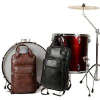 PU Leather Drum Stick Drumsticks Bag Carrying Case Parts Accessory