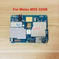 Placa mãe móvel do painel eletrônico desbloqueado com microplaquetas circuitos cabo flexível para 5S m5s 32 gb Circuitos de telefonia móvel    -