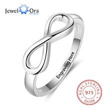 Классическое бесконечнное кольцо из 925 серебра. Серебряное кольцо в форме банта. Классическое Изящное Кольцо Подарок Годовщини(JewelOra Ri101995