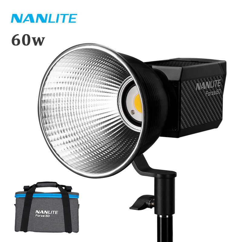 Nanlite Forza 60 LED Light 60W 5600K Photography Lighting Lamp Nanguang LED Spot Light Camera Professional Studio Video Light