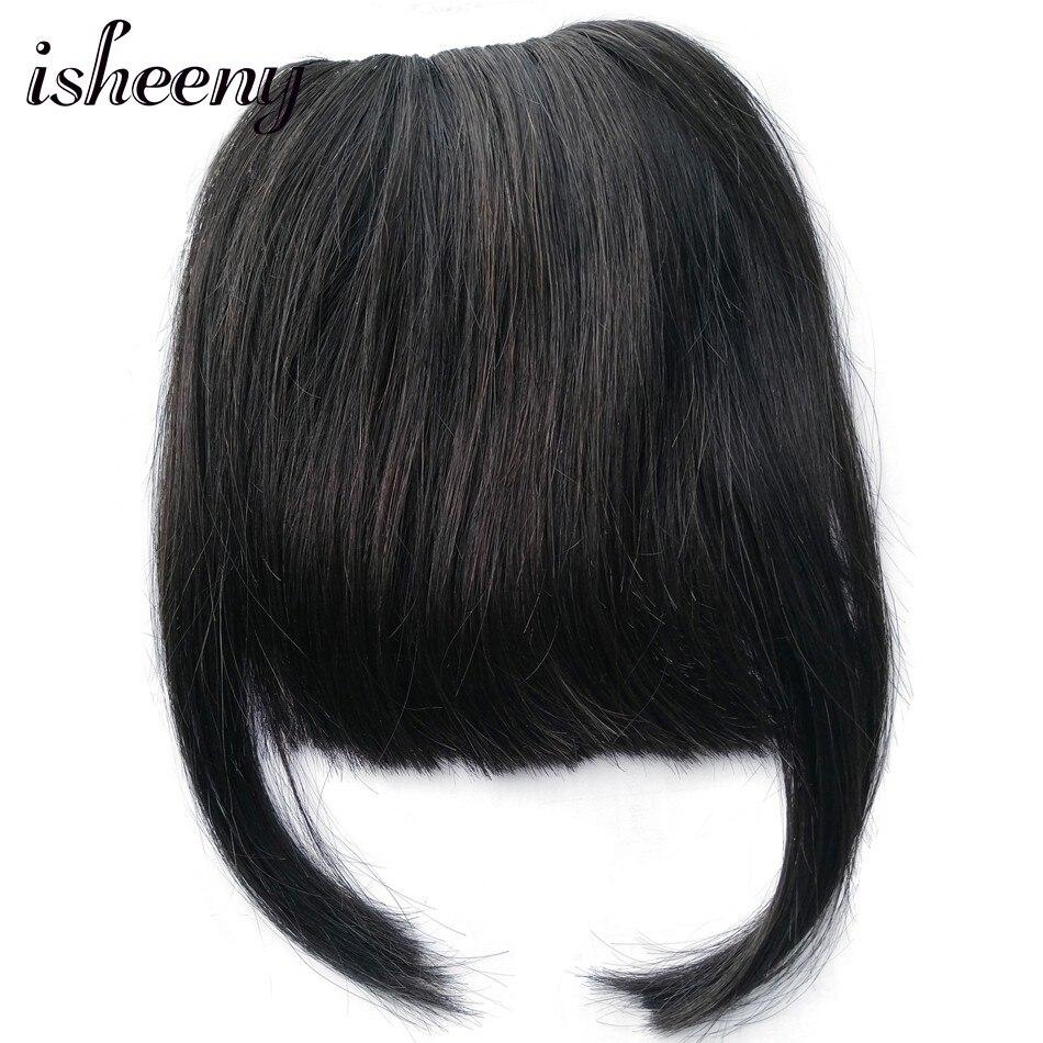 cabelo humano franja reta cabelo pedaço com