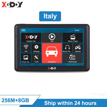 "XGODY 723 7"" Car Navigator Car Truck GPS Navigation 256M 8GB Sat Nav 2020 EU Free Map Shipping From Italy within 24 hours"