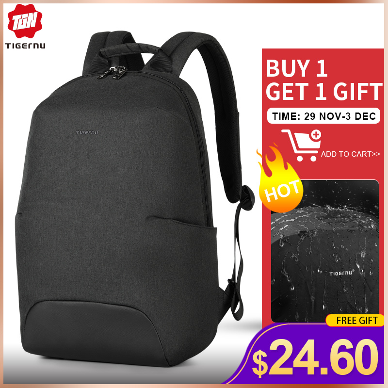 Tigernu 2019 New Design RFID Man Backpack Fit 15.6 Inch Laptop Backpack Schoolbag Splash Proof Male Bag Anti Thief Mochila
