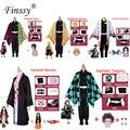 Аниме-выставка, костюм для косплея с героями мультфильмов, демон, убийца, Kimetsu no Yaiba Tanjirou Nezuko, косплей, кимоно, парик