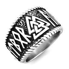 Viking triangle rune ring Модные аксессуары Викинг ювелирные
