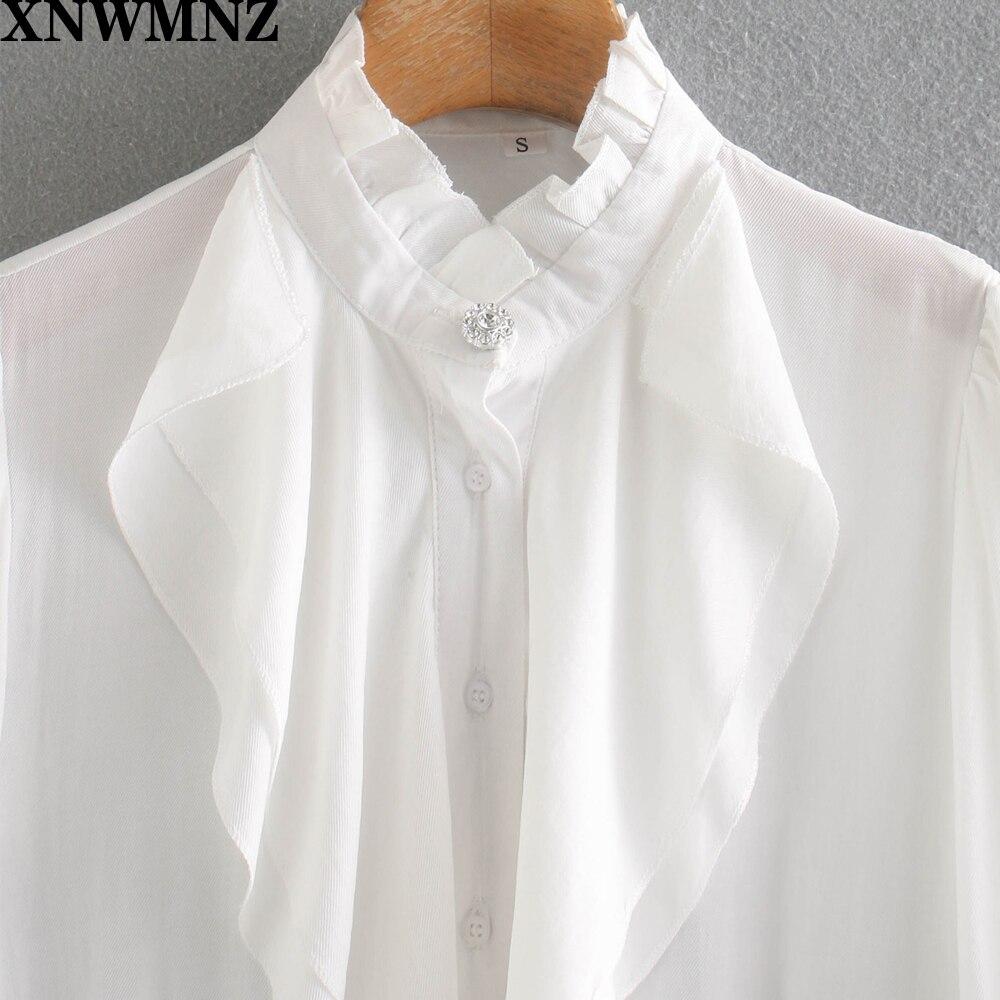 Купить женская рубашка с рюшами xnwmnz za повседневная элегантная длинным