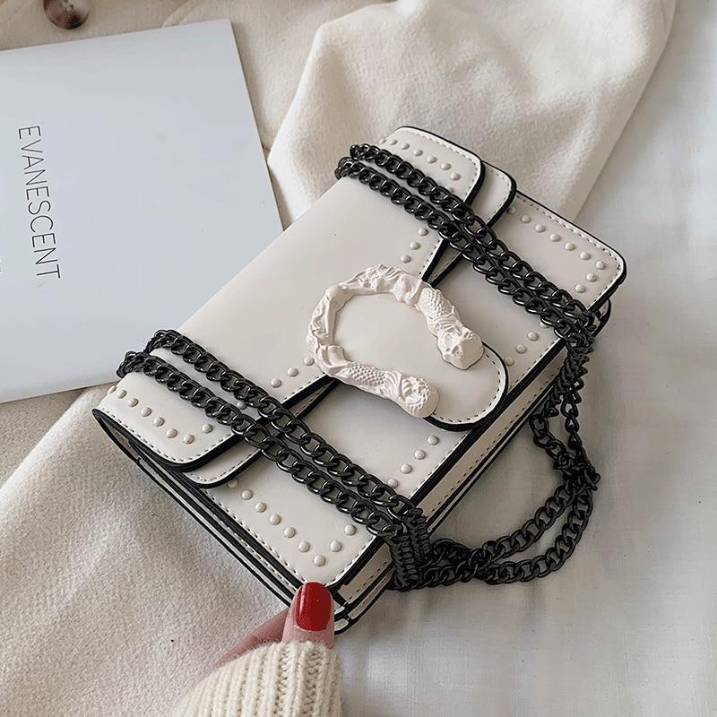 Candy Color Fashion Brand Women Bag  PU Leather Messenger Bag Designer Chain Shoulder Crossbody Bag Handbag Bolso Mujer