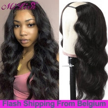 U Part Wig Human Hair With Clips Body Wave Wigs Indian Remy Hair UPart Human Hair Wig For Black Women Glueless Body Wave Wig