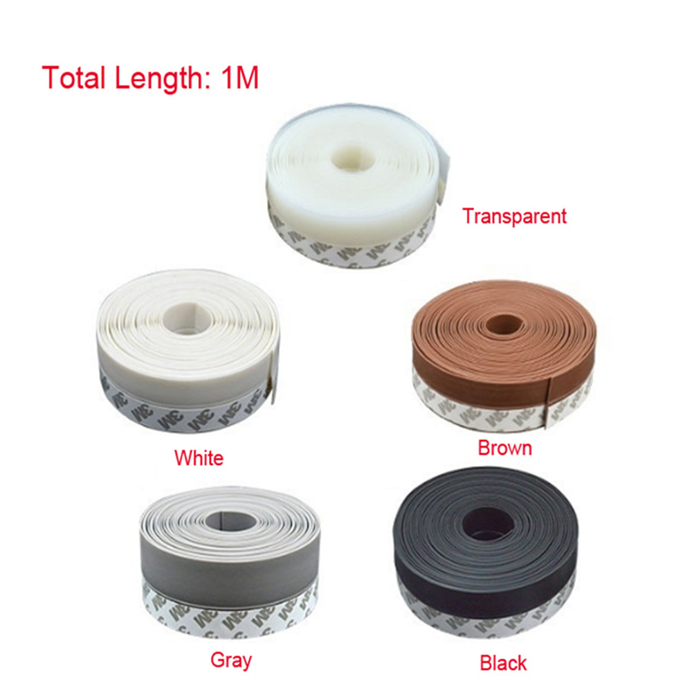 Multi-function Rubber Sealing Strip Window Weatherstrip Of Steel Door Silicone Seals Tape Over The Bar 1 M/roll 25 35 45mm Width