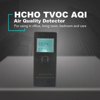 Portable Digital Formaldehyde Detector HCHO/TVOC Gas Tester AQI Air Quality Monitor Analyzer Measuring Tool lcd digital pm2 5 air quality detector pm10 particle concentration sensor indoor outdoor environment gas tester air analyzer