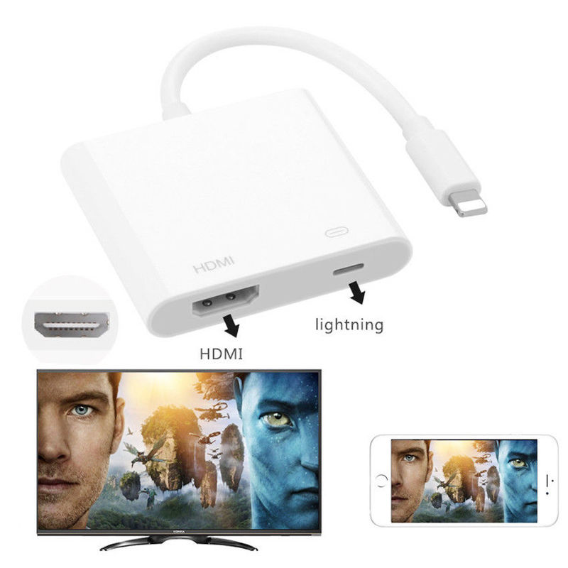 8 Pin Digital AV Adapter For Lighting To HDMI Cable For Apple IPhone XR X 11 8 7 For IPad HDMI Adapter Cable Audio Video Adapter