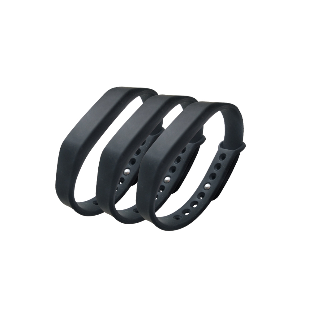 (3PCS/LOT New Dellon RFID Adjustable TK4100 125khz Silicone Waterproof RFID Wristband Bracel ID Tags