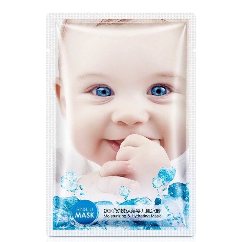 Baby Skin Ice Cooling Moisturizing Hydrating Silk Facial Mask