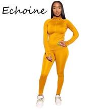 Costume Jogging pour Femme, costume de sport pour Femme, ensemble de 2 pièces, haut court + pantalon Long, uni, 8 couleurs, printemps décontracté