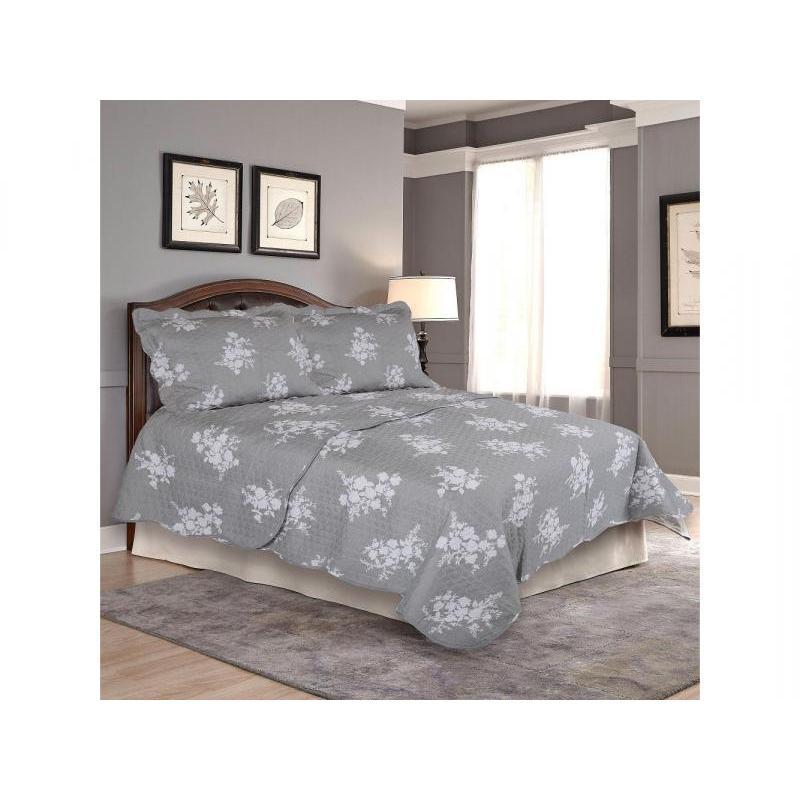 Bedspread полутораспальное Amore Mio, 170*220 cm, dark-gray, with наволочкой все цены