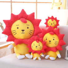 цены Lovely New 1pc Simulation Sunflower Lion Plush Toy Soft Cartoon Animal Lion Stuffed Doll Window Suction Cup Pendant Kid Gift