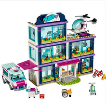 New Compatible Friends Girl Series molde Building Blocks toys Heartlake Hospital kids Bricks toy girl gifts for friends bela 10562 friends series heartlake riding club model building block bricks toy for children compatible with legoe friends 41126