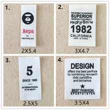 100 Pcs/lot Logo Patches for Clothing Printed Marks Pattern Letters Garment Clothes Sewing Accessories Wholesale