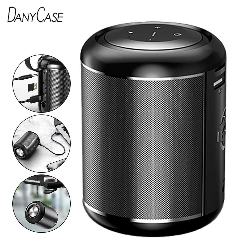 Миниатюрный Bluetooth-динамик, мощная беспроводная уличная смарт-колонка с басами, чистый стереозвук, сабвуфер, автомобильная аудиосистема для ...