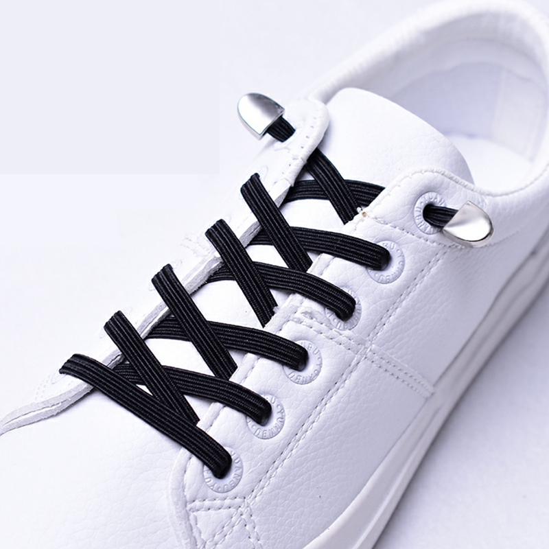 Elastic Shoelaces Flat Metal Lock No Tie Shoe Lace Kids And Adult Unisex Suitable For All Kinds Of Shoes Sneakers Lazy Laces