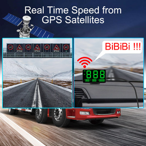 Image 1 - Car Head Up Display C60s/C80 Odometer KM/h MPH Car styling Big Fonts LED Display Car GPS Speedometer Altitude Display Projector