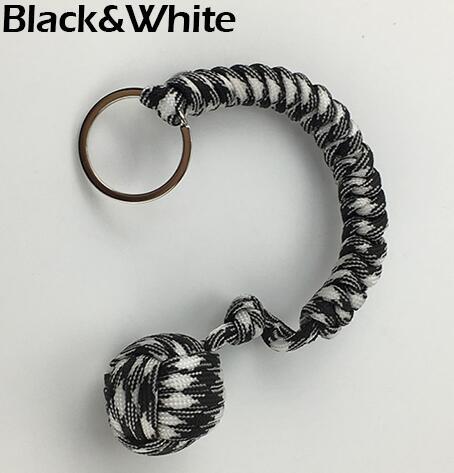 Наружная защита безопасности черная обезьяна кулак стальной шарик для девушки подшипник самообороны ремешок брелок для выживания разбитые окна - Цвет: Белый