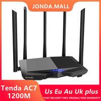 Tenda AC7 senza fili wifi Router 11AC 2.4 Ghz/5.0 Ghz Wi-Fi Ripetitore 1 * WAN + 3 * LAN 5 * 6dbi Antenne ad alto guadagno Intelligente APP Gestire