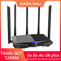 Tenda AC7 wireless wifi Routers 11AC 2.4Ghz/5.0Ghz Wi fi Repeater 1*WAN+3*LAN 5*6dbi high gain Antennas Smart APP Manage
