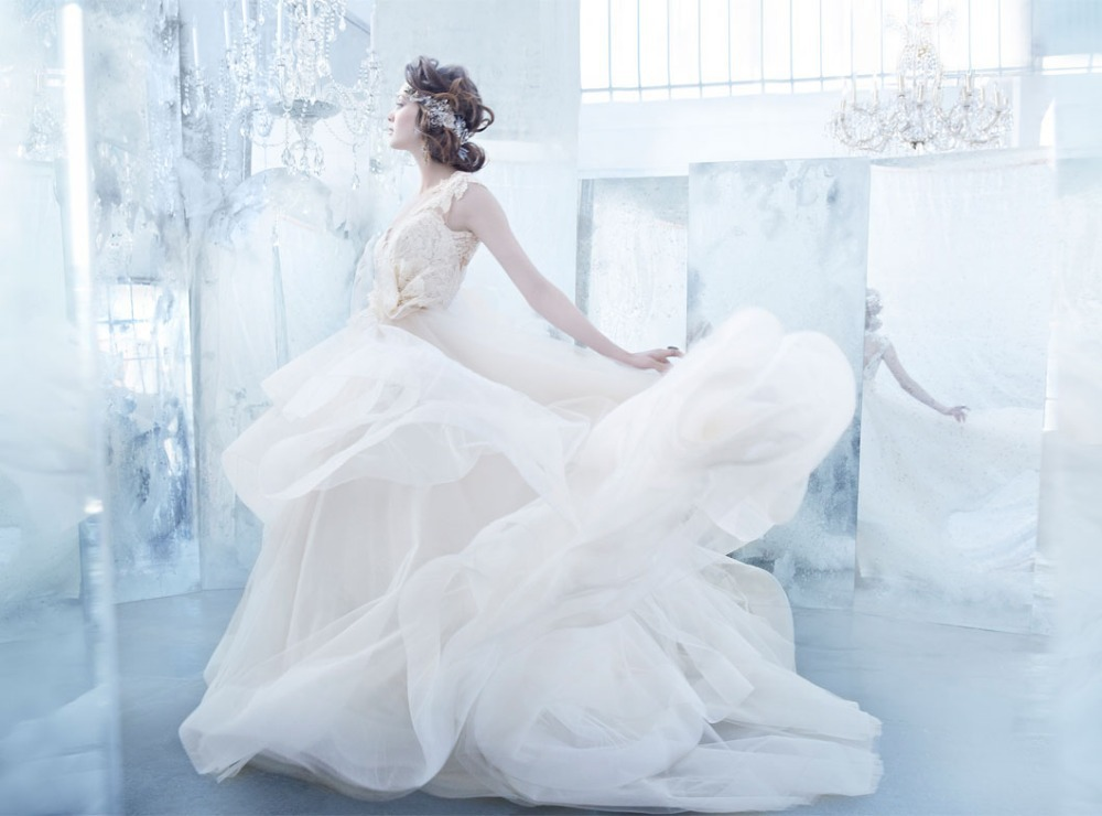Real Sample Lace Elegant Cap Sleeve V Neck Ruffled Bridal Gown 2018 Vestido De Noiva Casamento Mother Of The Bride Dresses