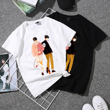 Short Sleeve Women T Shirt Funny Printed T-Shirt Basic Tee Tops Causal Loose Womens T-shirts O-neck Female Shirts Lady