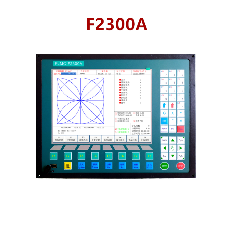 2-axis CNC Control System F2300A For CNC Flame And CNC Plasma Cutting Machine
