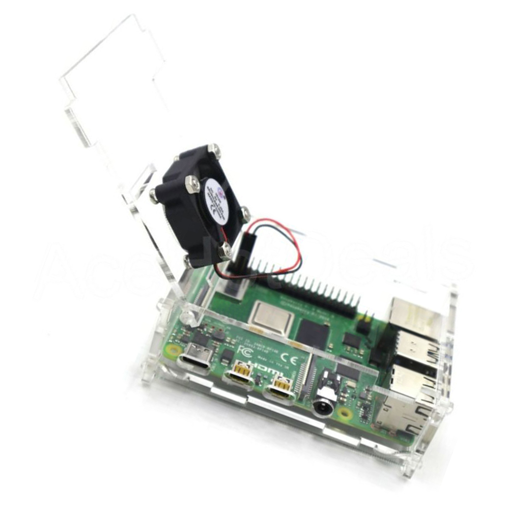 Acrylic Case Enclosure Box With Cooling Fan Heat Sink For Raspberry Pi 4 Model B Fit For Raspberry Pi 4 Model B Latest Version
