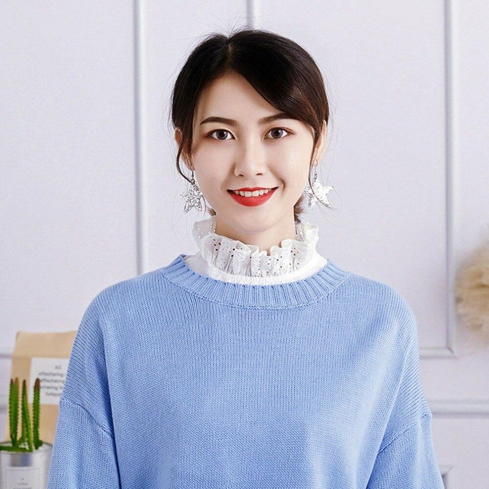 Korean Version Lace Embroidery Neckstand Fake Collar Tie Detachable False Blouse Clothes Accessories Valse Kraag Collar Falso