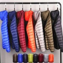 Multi-color Winter Fashion Brand Ultralight Duck Down Jacket Men Hooded Streetwear Light Feather Waterproof Warm Coat 4XL