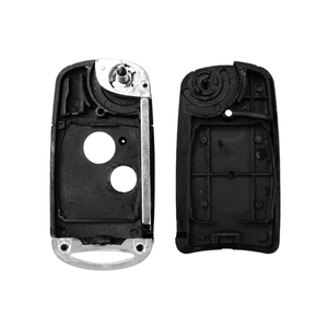 Чехол KEYYOU с 2 кнопками для Honda CRV Civic Jazz 2006 2007 2008 2009 2010 2011 откидной складной чехол для ключей автомобиля
