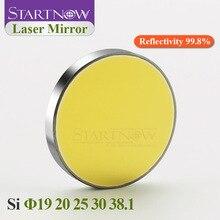 Кремниевое Si лазерное зеркало диаметром 19, 20, 25, 30, 20 мм, 25 мм, 38,1 мм, отражающие линзы, отражатель CO2, детали гравировального Станка для резки