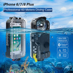 For iPhone 6/7/8 Plus Diving Cover Professional  Underwater Case[60m/195ft]